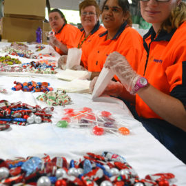 Packaging lolly bags for Orange City Council