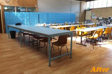 New lunchroom flooring
